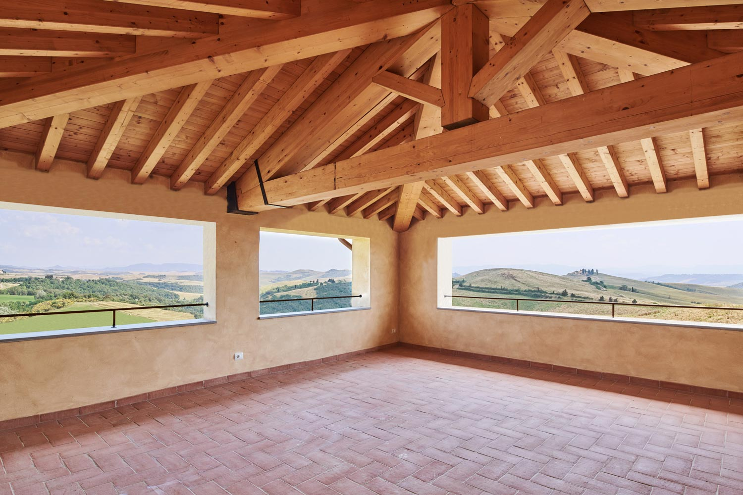Il Belvedere 4B - villa for sale in Tuscany offering a terrace with 360° countryside views
