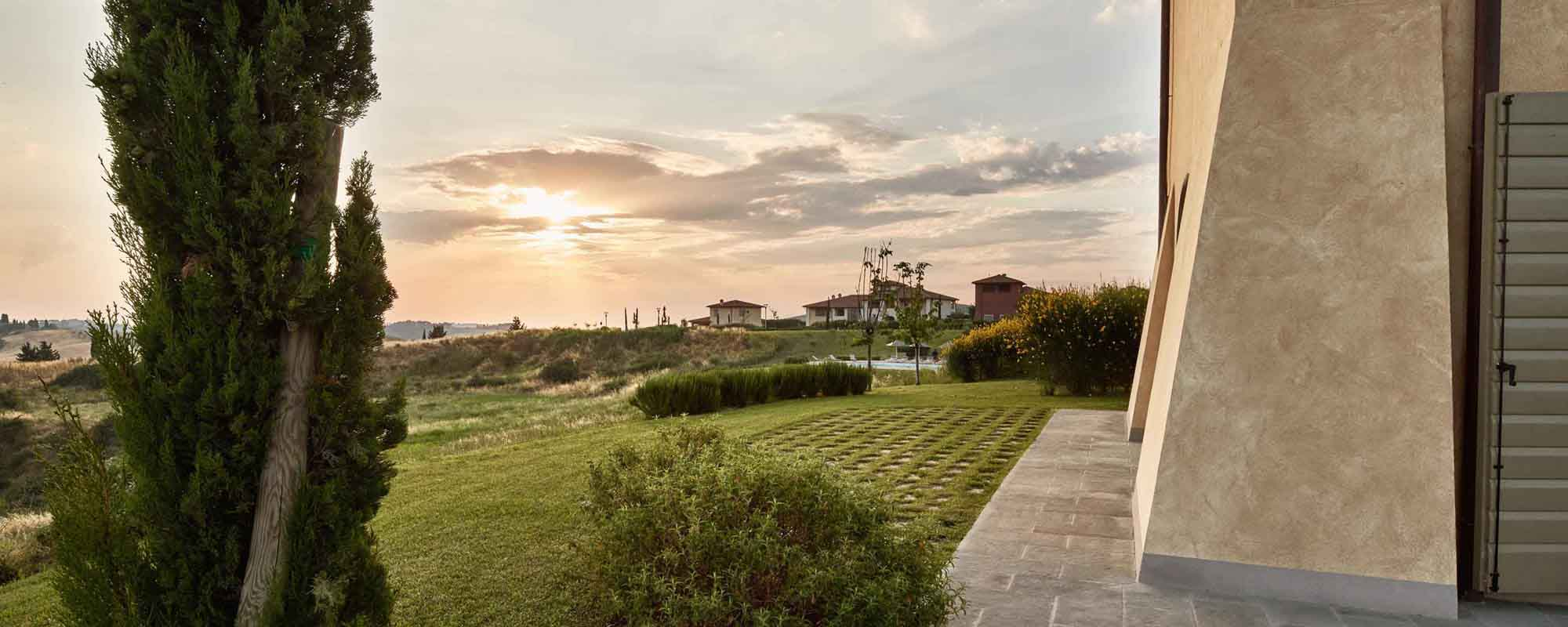 View from Villa Belvedere 4B - property for sale in Castelfalfi, Tuscany
