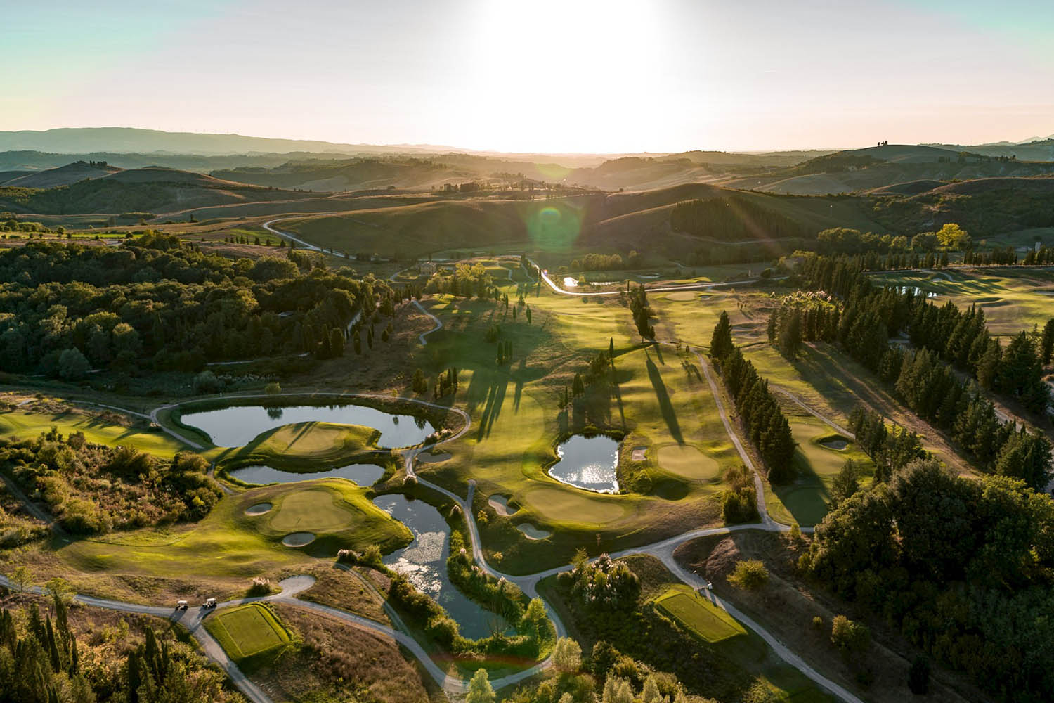 The properties are immersed in the award-winning Golf Club Castelfalfi - the very best in Tuscany